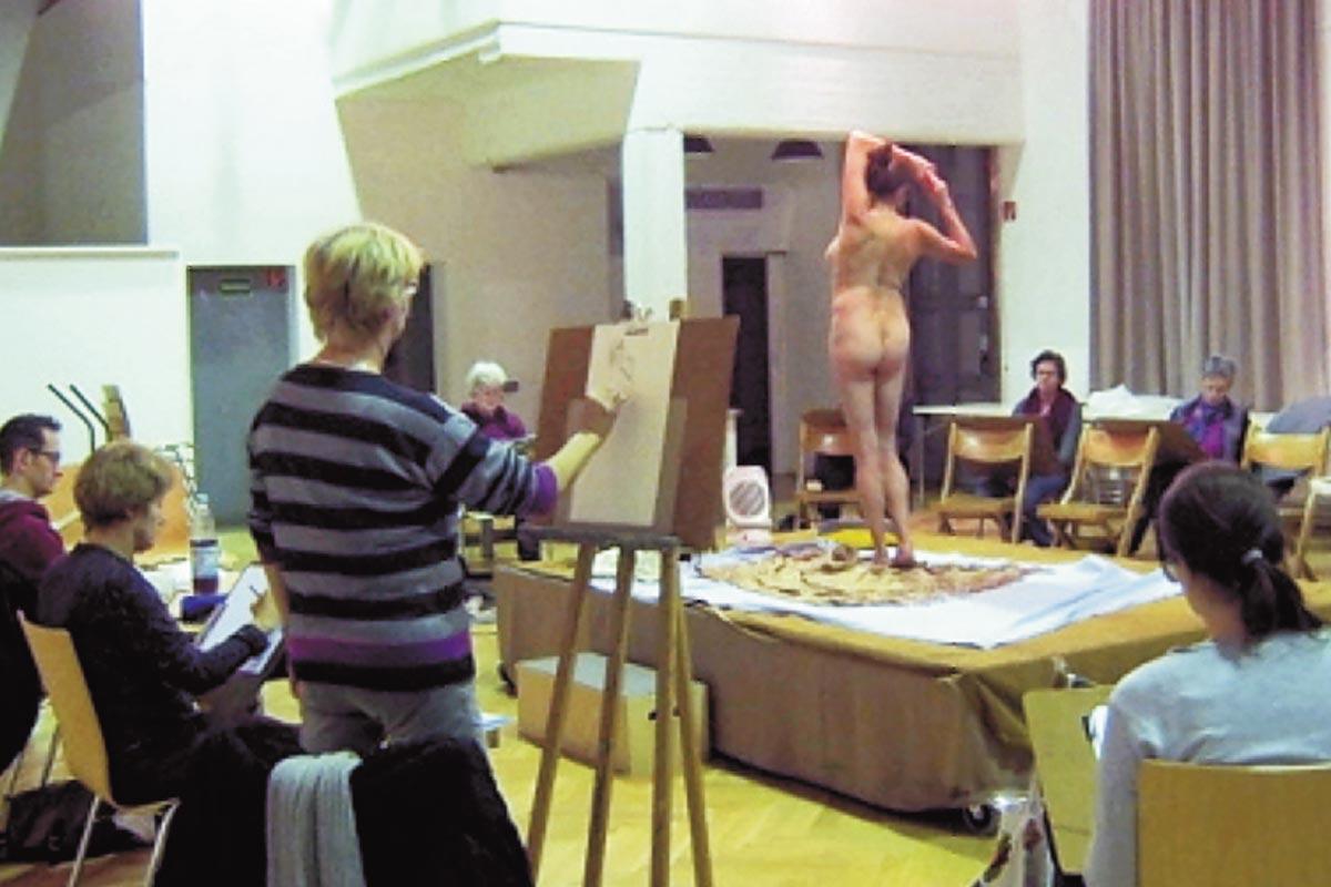 Ausstellung Portrait- und Aktzeichenkurs