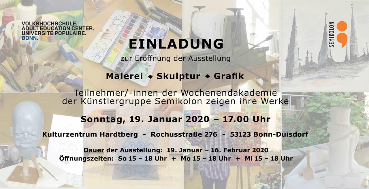 Einladung zur Vernissage am 19.02.2020