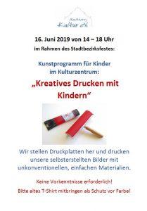Kreatives Drucken mit Kindern